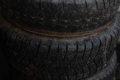 Older wheels. Wheels from your car. royalty free stock image