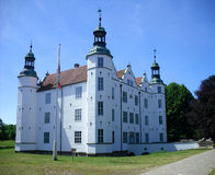 Old white ancient castle. Image of the old white ancient castle Stock Photography