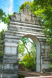 Old White Arch in the temple,Phayao thailand Stock Photos