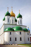 Old white Assumption cathedral in Kolomna Kremlin Stock Photography