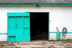 Old white barn Stock Images