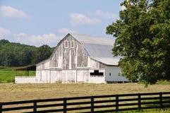 Old White Barn Stock Photo