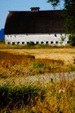 Old white barn. A old white barn stands strong after many years of use Royalty Free Stock Photography