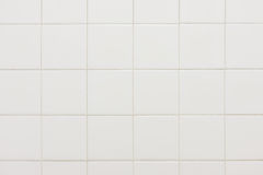 Old white bathroom tiles texture background Stock Photography