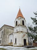 Old white beautiful church, Lithuania Stock Photo