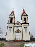 Old white beautiful church, Lithuania Stock Images