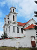 Old white beautiful church, Lithuania Royalty Free Stock Photos