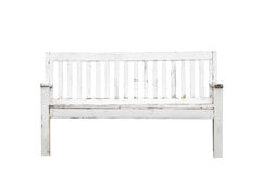 Old white bench Royalty Free Stock Images