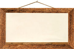 Old white board. Old wood white board isolate white background Royalty Free Stock Photo