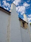 Old white brick wall Royalty Free Stock Photo