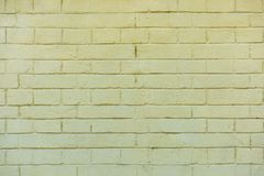 Old white brick wall background, full. Frame view royalty free stock image