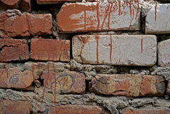 Old white brick wall background Stock Photo