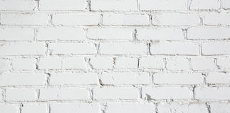 Old White brick wall Background. Old Stucco White Brick Wall. Abstract Whitewash Brickwall Background Texture. Vintage Wallpaper Web banner Wide Screen Close up Stock Image