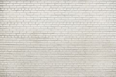 Old white brick wall background texture stock photo