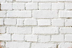 Old white brick wall, background texture. Old white brick wall, detailed background texture. Old brick wall, the white surface of the stone blocks. Background Royalty Free Stock Photography