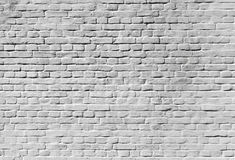 Old white brick wall background texture Stock Images