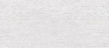 Whitewashed brick wall, light brickwork background for design. W Royalty Free Stock Photography