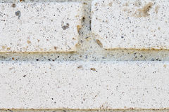 Old white brick wall close-up Royalty Free Stock Image