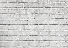 Old white brick wall, close-up texture Stock Photos