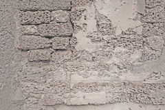 Old White brick wall or Laterite stone Royalty Free Stock Photo
