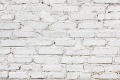 Old white brick wall texture background Royalty Free Stock Photography