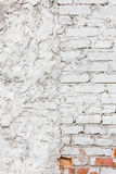Old white brick wall texture background Stock Image