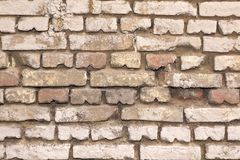 Old White Bricklaying Texture Royalty Free Stock Images