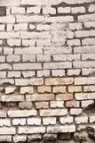 Old White Bricklaying Texture Stock Photography