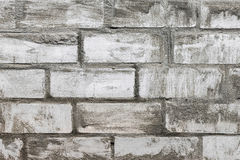 Old white brickwork. Background of old white brickwork smeared cement texture close-up view royalty free stock photos