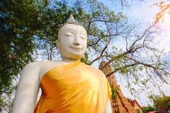 Old white Buddhist statue. Stock Image