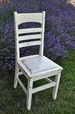 Old white chair in garden Royalty Free Stock Photos