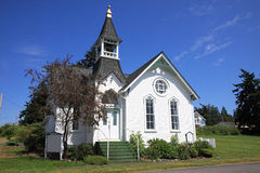 Old White Church Stock Photo