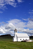 Old white church Stock Images