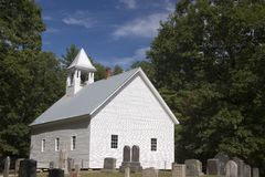 Old White Church Stock Photos