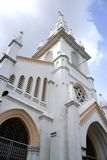 Old white church building Royalty Free Stock Photos