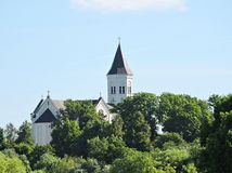 Free Old White Church, Lithuania Royalty Free Stock Image - 73007096