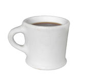 Old white coffee cup mug isolated Stock Photo