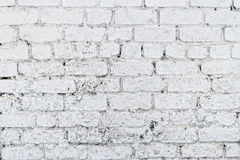 Old white concrete wall with cracks Royalty Free Stock Photo