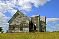 Old white country church Stock Photo