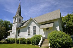 Old white country church Stock Image