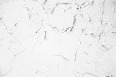 Old white crack concrete wall Stock Photos