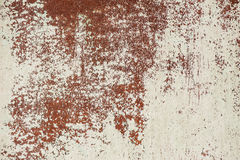 Old white cracked paint on rusty metal surface Royalty Free Stock Photos