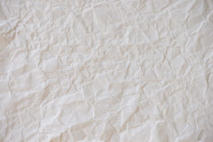Old white crumpled paper sheet texture Royalty Free Stock Image