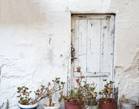 Old White Door Stock Photography