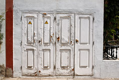 Old white doors. Stock Images