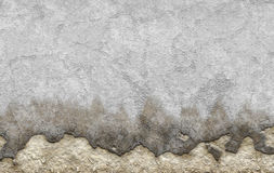 Old white dyed plastered crumble texture of aged wall Royalty Free Stock Images