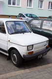 Old white Fiat Stock Photos