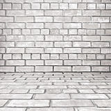 Old white gray brick room background Royalty Free Stock Image