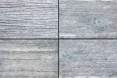 Old White gray wood for background texture - 4 style Stock Photo