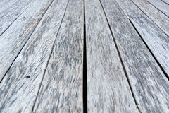 Old White gray wood floor for background texture Stock Photography